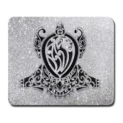 Diamond Bling Lion Large Mouse Pad (Rectangle)