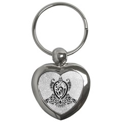 Diamond Bling Lion Key Chain (Heart)