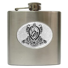 Diamond Bling Lion Hip Flask