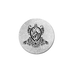 Diamond Bling Lion Golf Ball Marker