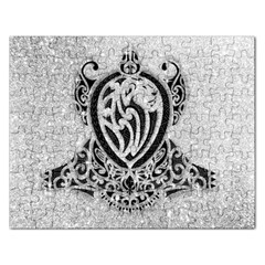 Diamond Bling Lion Jigsaw Puzzle (Rectangle)