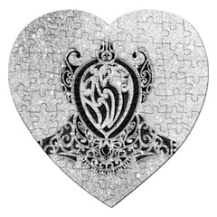 Diamond Bling Lion Jigsaw Puzzle (heart)