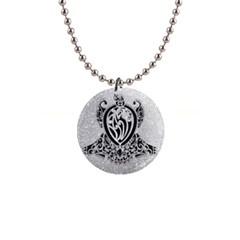 Diamond Bling Lion Mini Button Necklace