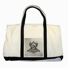 Diamond Bling Lion Two Toned Tote Bag