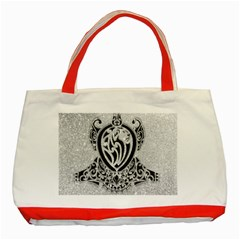 Diamond Bling Lion Red Tote Bag