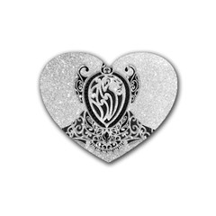 Diamond Bling Lion 4 Pack Rubber Drinks Coaster (heart)