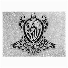 Diamond Bling Lion Single-sided Handkerchief
