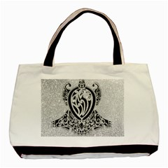 Diamond Bling Lion Twin-sided Black Tote Bag