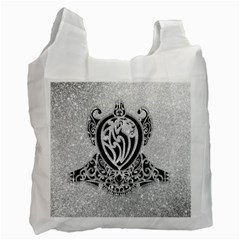 Diamond Bling Lion Single Sided Reusable Shopping Bag