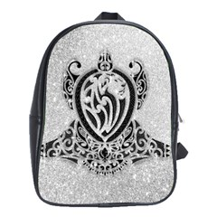 Diamond Bling Lion Large School Backpack
