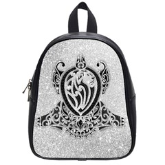 Diamond Bling Lion Small School Backpack
