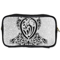 Diamond Bling Lion Twin Sided Personal Care Bag
