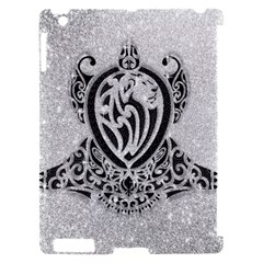 Diamond Bling Lion Apple iPad 2 Hardshell Case (Compatible with Smart Cover)