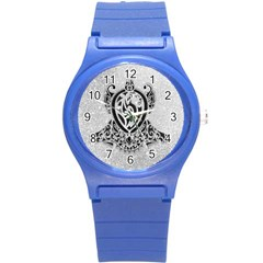 Diamond Bling Lion Round Plastic Sport Watch Small
