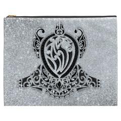 Diamond Bling Lion Cosmetic Bag (xxxl)