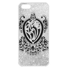 Diamond Bling Lion Apple iPhone 5 Seamless Case (White)