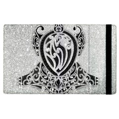 Diamond Bling Lion Apple iPad 3/4 Flip Case
