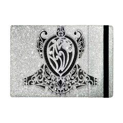 Diamond Bling Lion Apple iPad Mini Flip Case