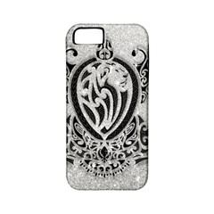 Diamond Bling Lion Apple Iphone 5 Classic Hardshell Case (pc+silicone)