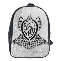 Diamond Bling Lion School Bag (xl)