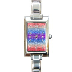 Rainbow of Colors, Bling and Glitter Classic Elegant Ladies Watch (Rectangle)