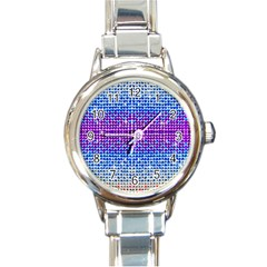 Rainbow Of Colors, Bling And Glitter Classic Elegant Ladies Watch (round)