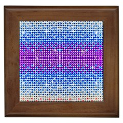 Rainbow Of Colors, Bling And Glitter Framed Ceramic Tile