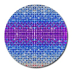 Rainbow of Colors, Bling and Glitter 8  Mouse Pad (Round)