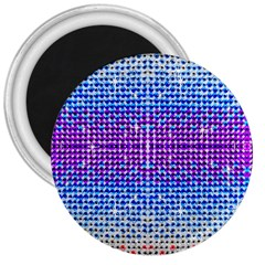 Rainbow Of Colors, Bling And Glitter Large Magnet (round)