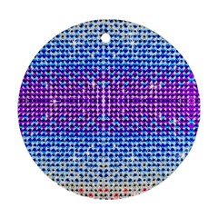 Rainbow Of Colors, Bling And Glitter Ceramic Ornament (round)