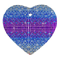 Rainbow Of Colors, Bling And Glitter Ceramic Ornament (heart)
