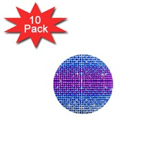 Rainbow of Colors, Bling and Glitter 10 Pack Mini Magnet (Round)