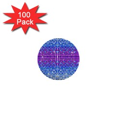 Rainbow of Colors, Bling and Glitter 100 Pack Mini Button (Round)