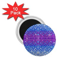 Rainbow Of Colors, Bling And Glitter 10 Pack Small Magnet (round)