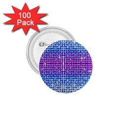 Rainbow of Colors, Bling and Glitter 100 Pack Small Button (Round)