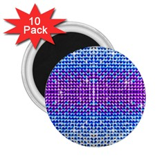 Rainbow of Colors, Bling and Glitter 10 Pack Regular Magnet (Round)