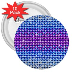 Rainbow of Colors, Bling and Glitter 10 Pack Large Button (Round)