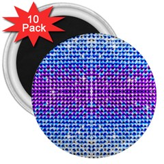 Rainbow of Colors, Bling and Glitter 10 Pack Large Magnet (Round)