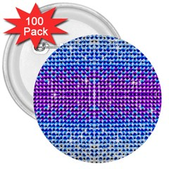 Rainbow of Colors, Bling and Glitter 100 Pack Large Button (Round)