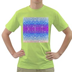 Rainbow of Colors, Bling and Glitter Green Mens  T-shirt