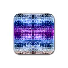 Rainbow of Colors, Bling and Glitter 4 Pack Rubber Drinks Coaster (Square)