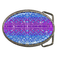 Rainbow Of Colors, Bling And Glitter Belt Buckle (oval)