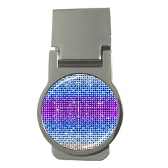 Rainbow Of Colors, Bling And Glitter Money Clip (round)