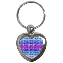 Rainbow of Colors, Bling and Glitter Key Chain (Heart)