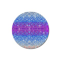 Rainbow of Colors, Bling and Glitter Large Sticker Magnet (Round)