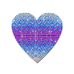 Rainbow of Colors, Bling and Glitter Large Sticker Magnet (Heart)