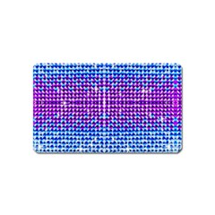 Rainbow of Colors, Bling and Glitter Name Card Sticker Magnet