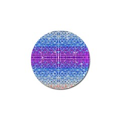 Rainbow Of Colors, Bling And Glitter 4 Pack Golf Ball Marker