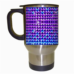 Rainbow of Colors, Bling and Glitter White Travel Mug