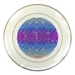 Rainbow of Colors, Bling and Glitter Porcelain Display Plate